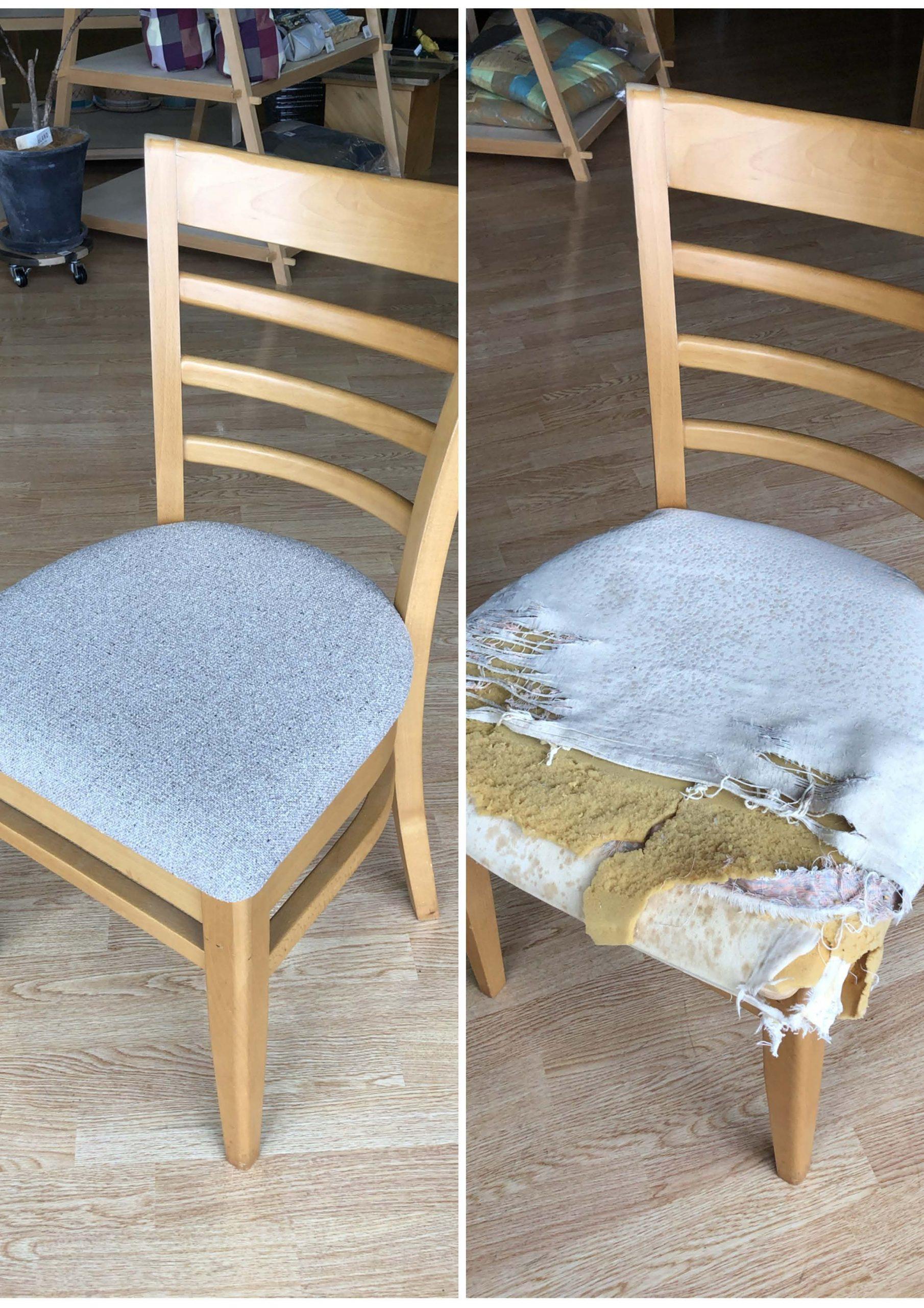 椅子を修理するリペア事業